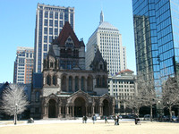 Church across from Library, Boston